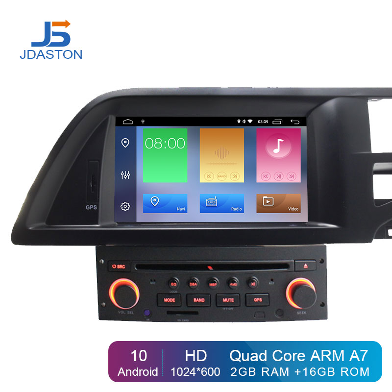 JDASTON Android 10.0 Car DVD Player For Citroen C5 2005-2012 GPS Navigation Audio Wifi Multimedia Stereo 1 Din Car Radio Stereo