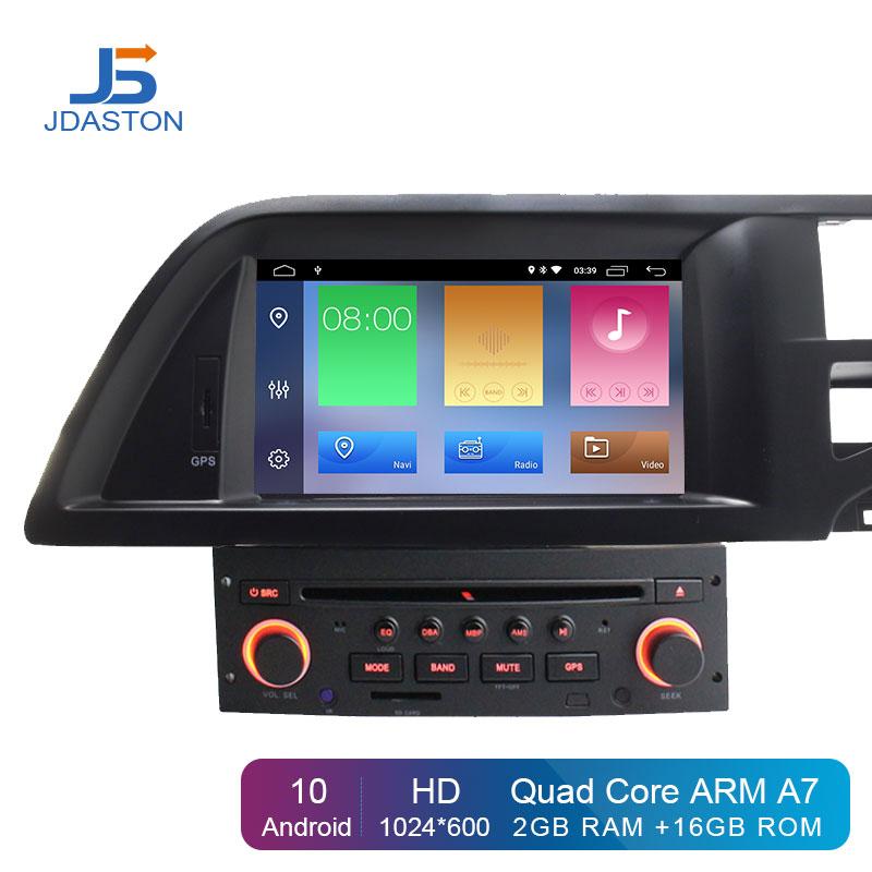 JDASTON Android 10.0 Car DVD Player For Citroen C5 2005-2012 GPS Navigation Audio Wifi Multimedia Stereo 1 Din Car Radio Stereo
