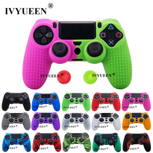Image 1 - IVYUEEN Studded Silicone Cover Skin Case for Sony PlayStation 4 PS4 Pro Slim Controller Gamepad Cover with 2 Thumb Grips Caps