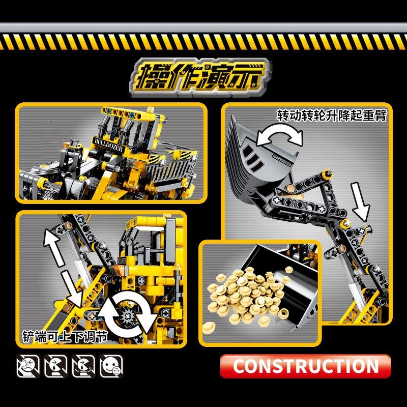 688pcs-Technic-Series-Bulldozer-Truck-Building-Blocks-City-Construction-Engineering-Figures-Enlighten-Bricks-Kids-Birthday-Toys (4)