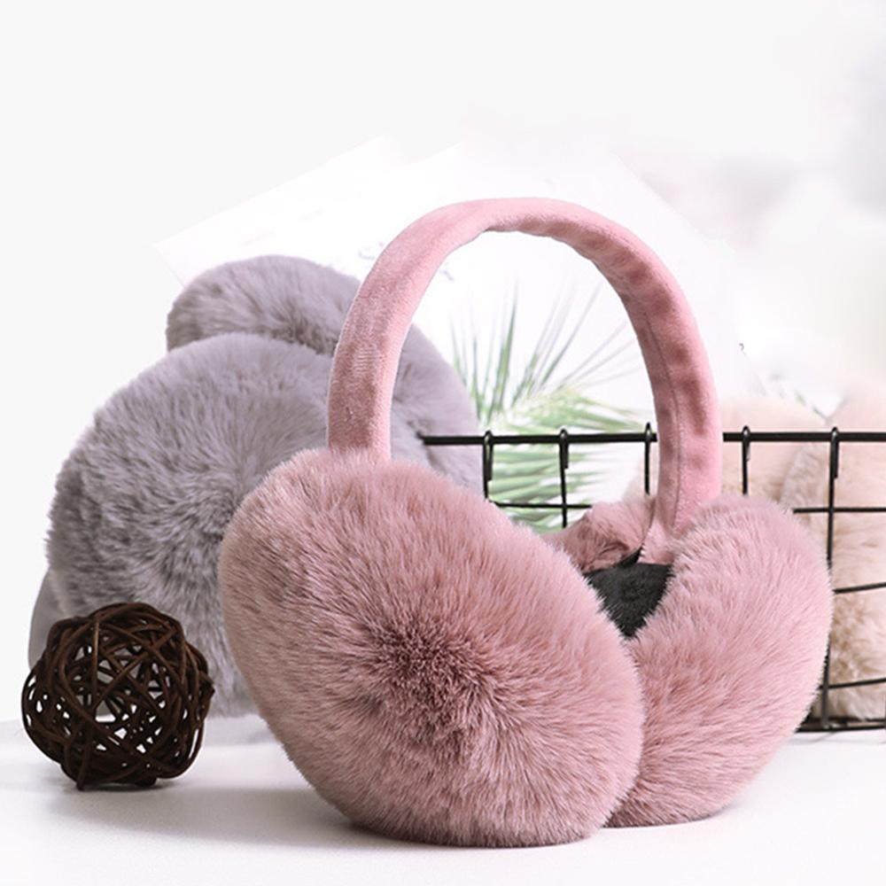 New Fur Solid Color Ladies Earmuffs Autumn And Winter Warm And Comfortable Unisex Skiing Fur Headphones Casque Antibruit Cute#50