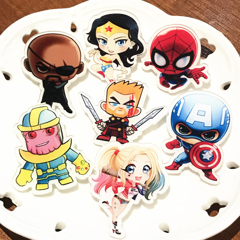 7pcs Wonder Woman Sipderman Marvel Avengers Characters Hero Acrylic Badges For Backapck Ornament Clothing Boy Label Pin Kid Gift Brooches Aliexpress We make all types of enclosures, rack systems and displays out of melamine or plastics; www aliexpress com