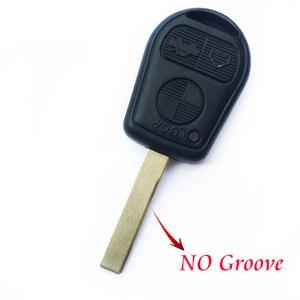 Image 2 - 3 przycisk obudowa pilota bez kluczyka dla BMW E39 E36 E31 E32 E38 wymiana inteligentny brelok Auto etui na klucze pokrywa Uncut Blade