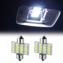 2x C5W C10W светодиодный интерьер автомобиля лампы для чтения для Nissan Almera Renault Clio Dacia Logan Megane Espace Kangoo