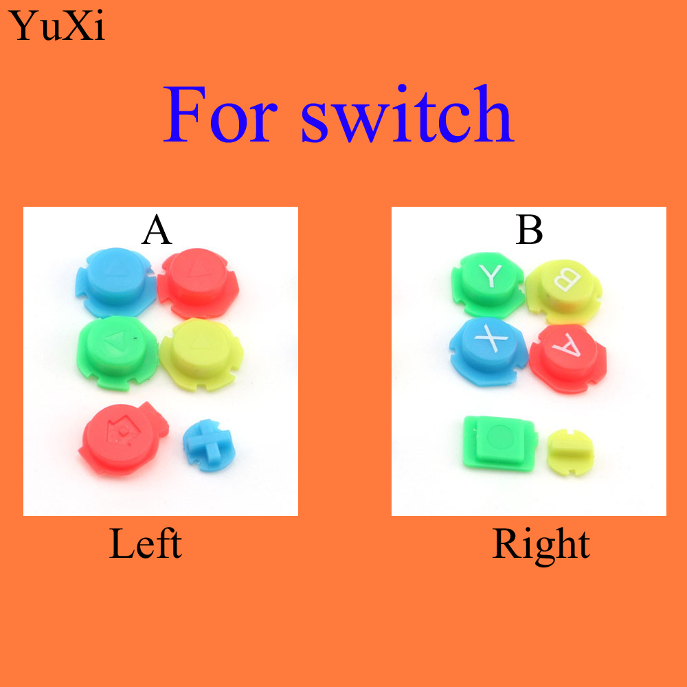 Colorful ABXY Directions Keys Buttons Joystick For Nintendo Switch NS NX Controller Joy-con /For Joy Con Left Right Controller