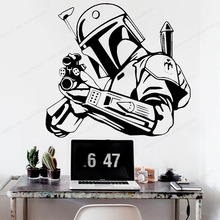 Movie Character Vinyl wall sticker Star Wars Wall Decal  kids room wall decor boys bedroom art mural JH372 movie cartoon characters wall sticker vinyl boys room wall decor movie wall decal art mural jh377
