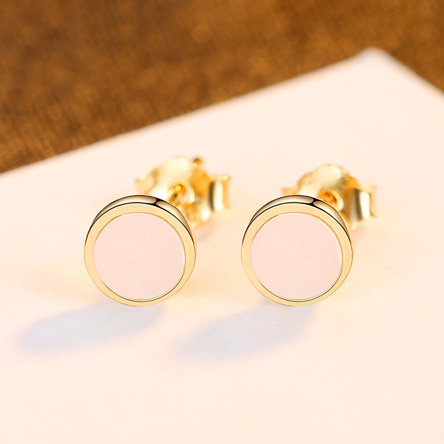 Sea Shell Circle Stud Earrings