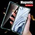 360 caixa de vidro dupla face para xiao mi nota vermelha 8t 7 8 pro 8a magnética capa de metal em xio mi 9 t 9lite nota 10 cc9 pro coque