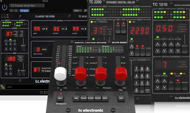 TC Electronic 混响延迟套装 四件套DVR250,TC1210,2290,8210