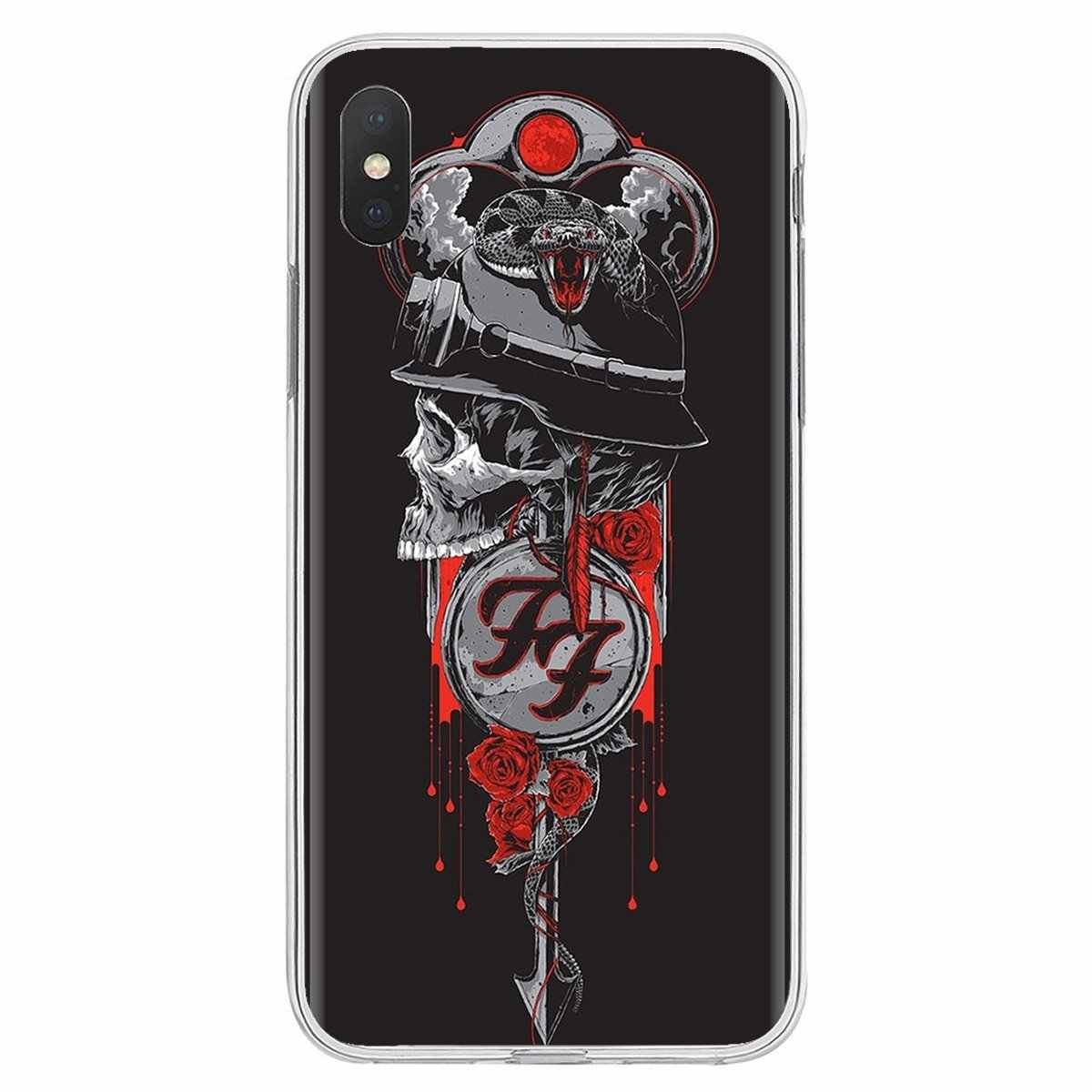 Buy Silicone Phone Case famous Rock Band FOO FIGHTERS For iPhone 11 Pro 4 4S 5 5S SE 5C 6 6S 7 8 X XR XS Plus Max For iPod Touch