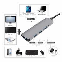 USB3.0 dock Type C vers HDMI adaptateur HUB pour lecteur de carte SD TF ordinateur portable MacBook Smartphone convertisseur de USB-C d'extension HDMI