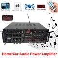 Bluetooth 2,0 Kanal 2000W Audio Power HiFi Verstärker 220-240V AV Amp Lautsprecher Fernbedienung EQ Bühne karaoke für Auto Home
