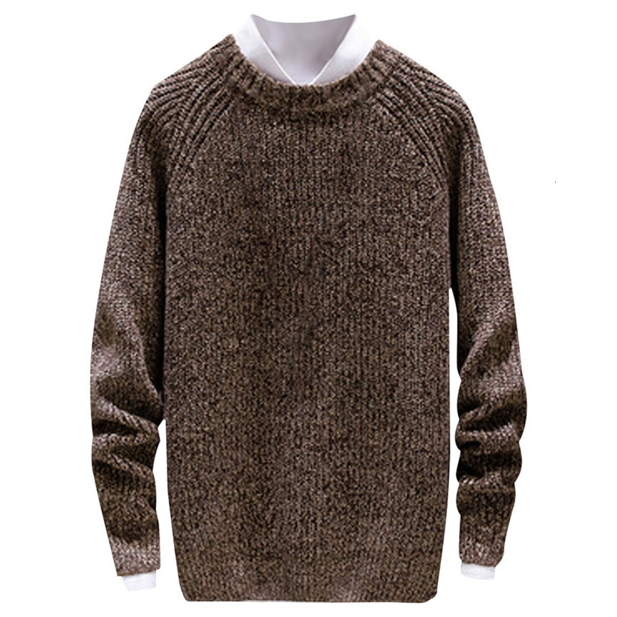 2019 Winter New Arrivals Thick Warm Sweaters O-Neck Wool Sweater Men Brand Clothing Knitted Pullover Men M-2xl