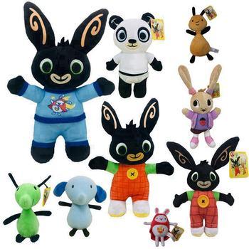 Bing Bunny Plush Toy Pendant Clip Keychain Doll Hoppity Voosh Stuffed Animal Pando Rabbit for  birthday Gifts