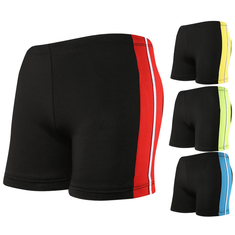 Simple Fashion Men Stripes Swimming Trunks Quick-Dry Breathable Lining Regulation Belt Hot Springs Boxer Swimming Trunks