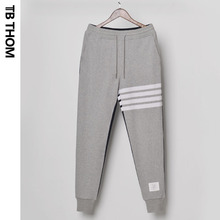 2021 TB THOM men's dyed contrast color long with striped fashion cotton sweatpants men casual Jogging pants youth trousers