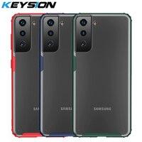 KEYSION-funda mate para Samsung S21 Ultra S21 + S20 FE S10 Plus, transparente, a prueba de golpes, para Galaxy Note 20 Ultra