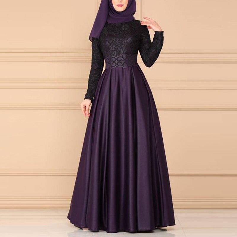 Lace Vintage Arabic Abaya Dubai Muslim Dress Abayas For Women Ropa Mujer 2020 Turkish Dresses Robe Musulmane Abaya Muslim S-5XL