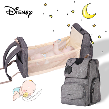 Disney Diaper Bag Backpack For Moms Mommy Baby Bags Multifunctional Dual Purpose Bed Package Nappy Bag Travel Stroller Bag insular baby diaper backpacks nappy bags changing multifunctional bags for mommy baby stroller bags for storage shipping free
