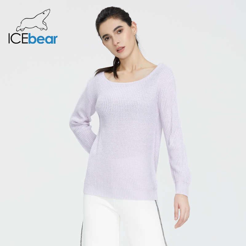 Icebear 2020 봄 새로운 여성의 v-목 풀오버 니트 탑 짧은 슬림 스웨터 여성 AW-091
