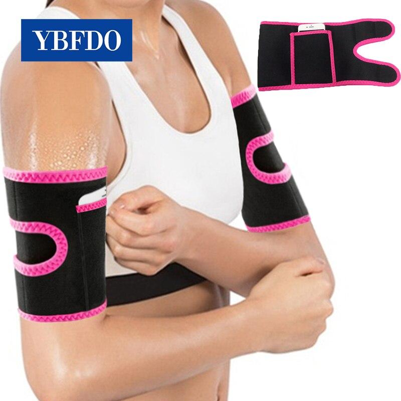 Ybfdo 2021 quente 1 par braço banda neoprene sauna cinto envolve braço corpo shapers ultra suor sauna efeito mais magro aparadores de braço shapewear