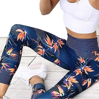 Joga spodnie damskie Fitness Sport legginsy nadruk w paski elastyczne do ćwiczeń spodnie treningowe S-XL spodnie do biegania Plus rozmiar tanie i dobre opinie HAIMAITONG CN (pochodzenie) Elastyczny pas COTTON WOMEN Dobrze pasuje do rozmiaru wybierz swój normalny rozmiar Yoga Pełna długość