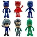 6 шт./компл. Pj маска мультяшный персонаж ПВХ Pj маска Catboy OwlGilrs Гекко маска мультяшный персонаж детская игрушка подарок для детей