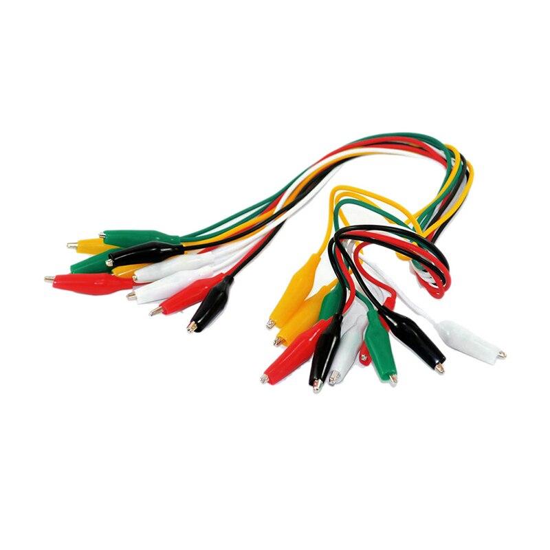 10pcs/set Electrical Alligator Clips DIY Test Leads Alligator Clip Double-ended Crocodile Clips Roach Clip Test Jumper Wire Kit