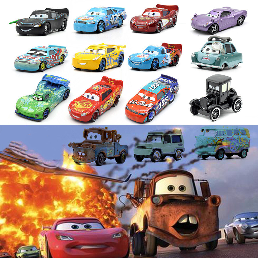 Cars Disney Pixar Cars 3 2 Finn McMissile Metal Diecast Toy Car 1:55 Die Cast Metal Alloy Model Toy Car Boy Gift McQueen Car New