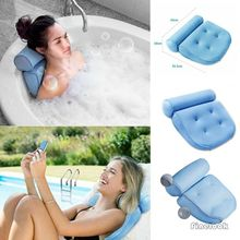 3D сетчатая подушка для ванной Нескользящая спа-подушка для джакузи с 4 присосками принадлежности для ванной комнаты