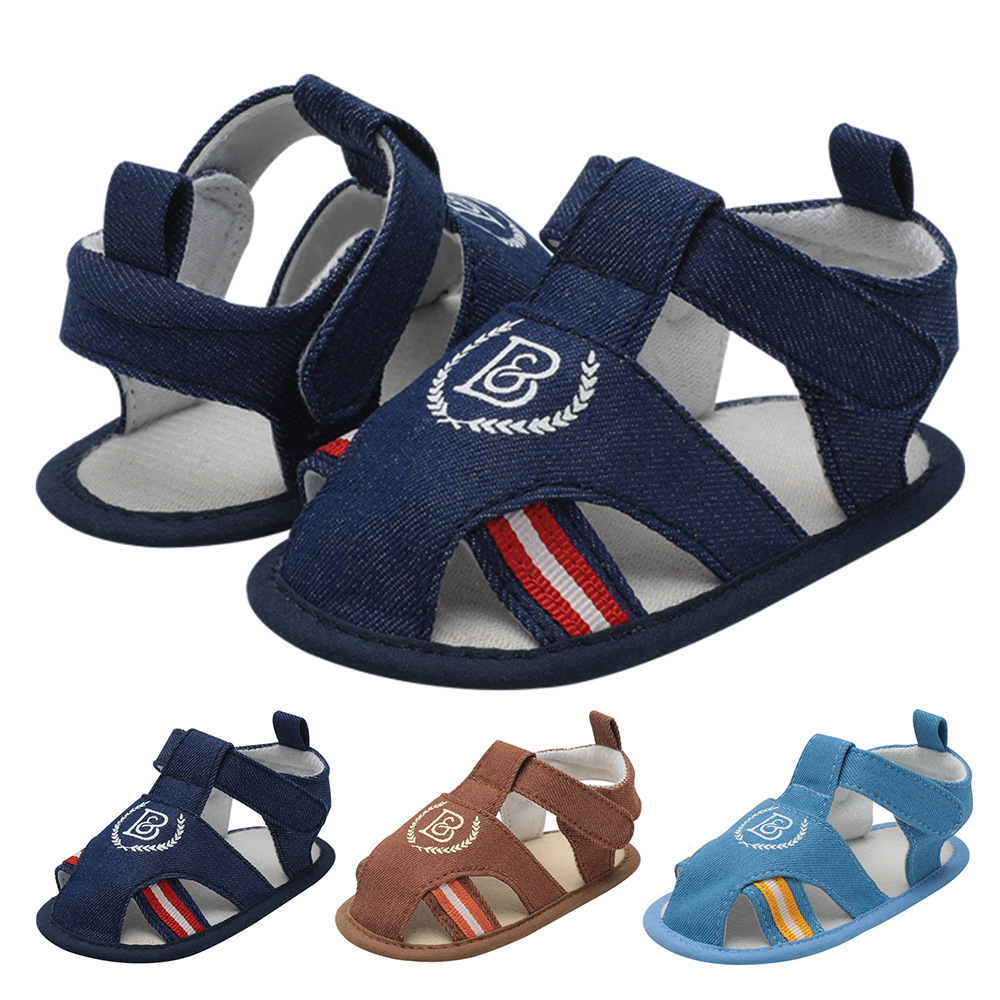 2019 Baby Summer Shoes Newborn Infant Baby Girls Boys Shoes Solid Non-slip Striped Canvas Casual Breathable Toddler Shoes 0-18M