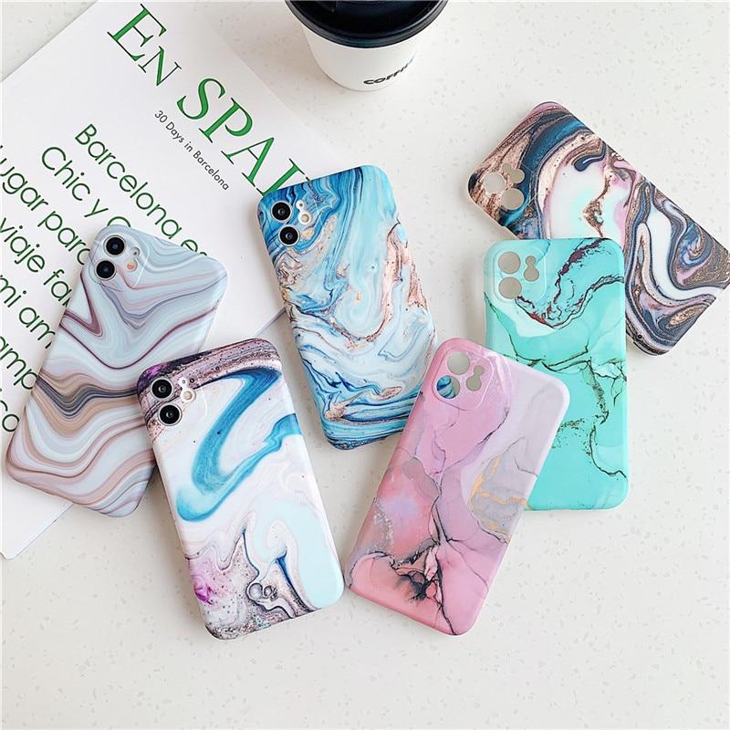 כיסוי פלסטיק מעוצב בסגנון שיש למכשירי iPhone 2