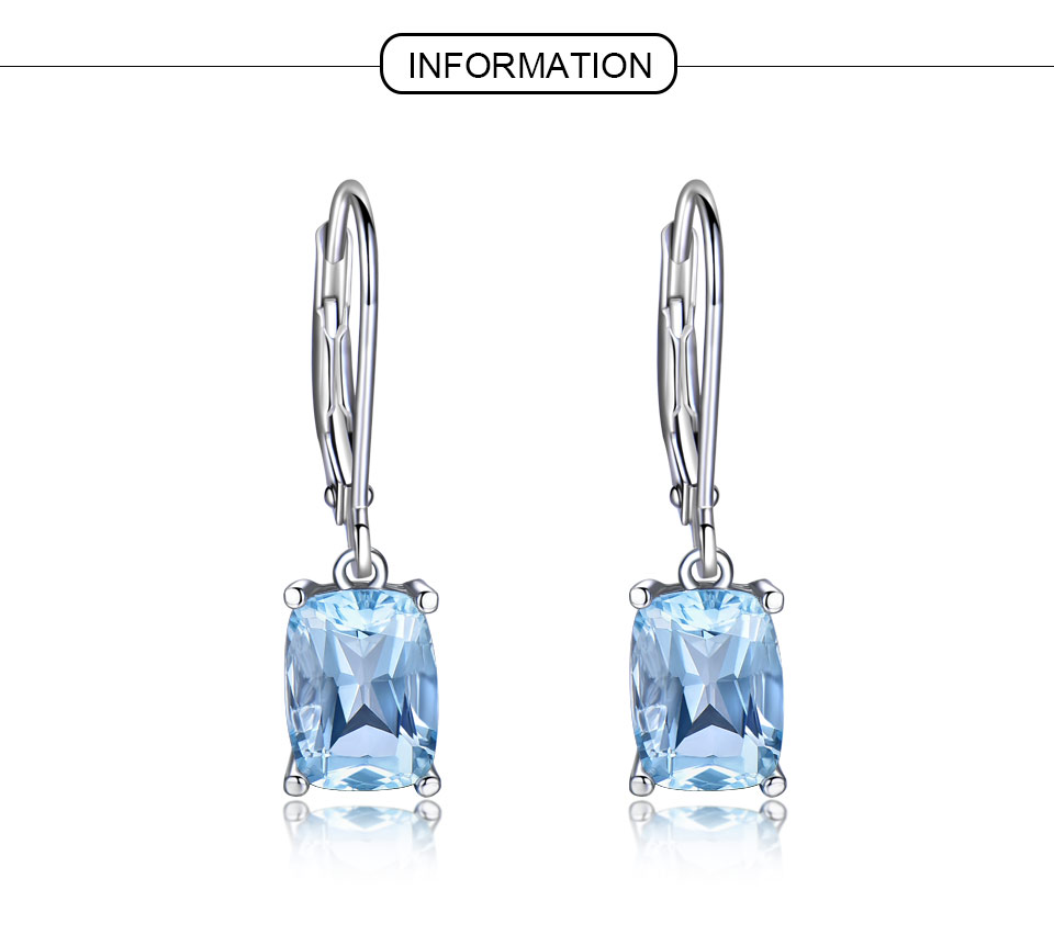 UMCHO Sky blue topaz silver sterling jewelry sets for women S011B-1-PC (1)