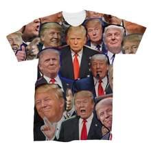 Donald Trump foto camiseta con Collage Trump 3D impreso muchas caras T camisa