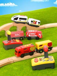 Railway Brio-Track Wooden Electrical-Train Magnetic Link Remote-Control And White Compatible