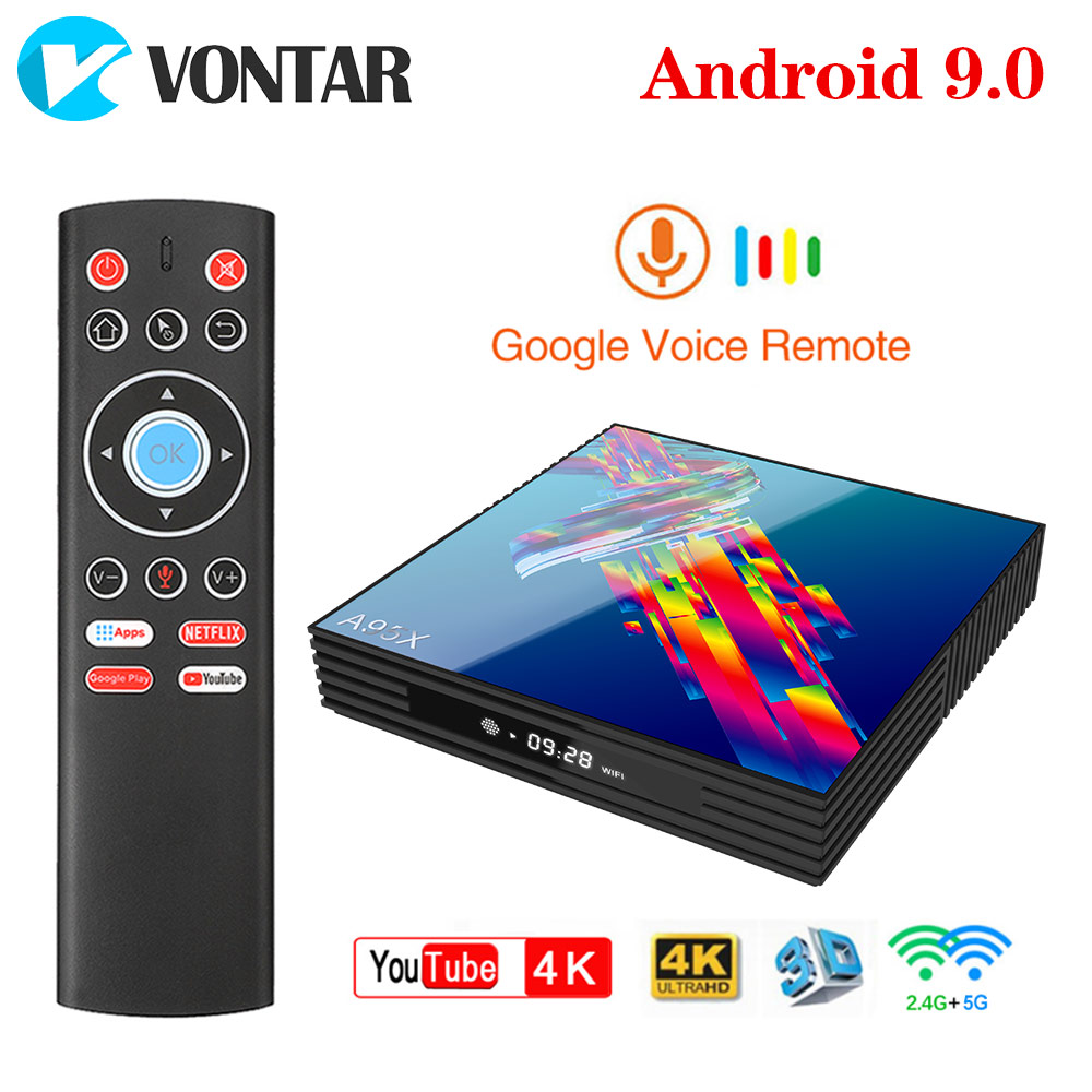 A95X R3 Android TV Box 9.0 4GB RAM 64GB Rockchip RK3318 1080p 4K 60fps USB3.0 Google Play Store Netflix Youtube 4K Media Player