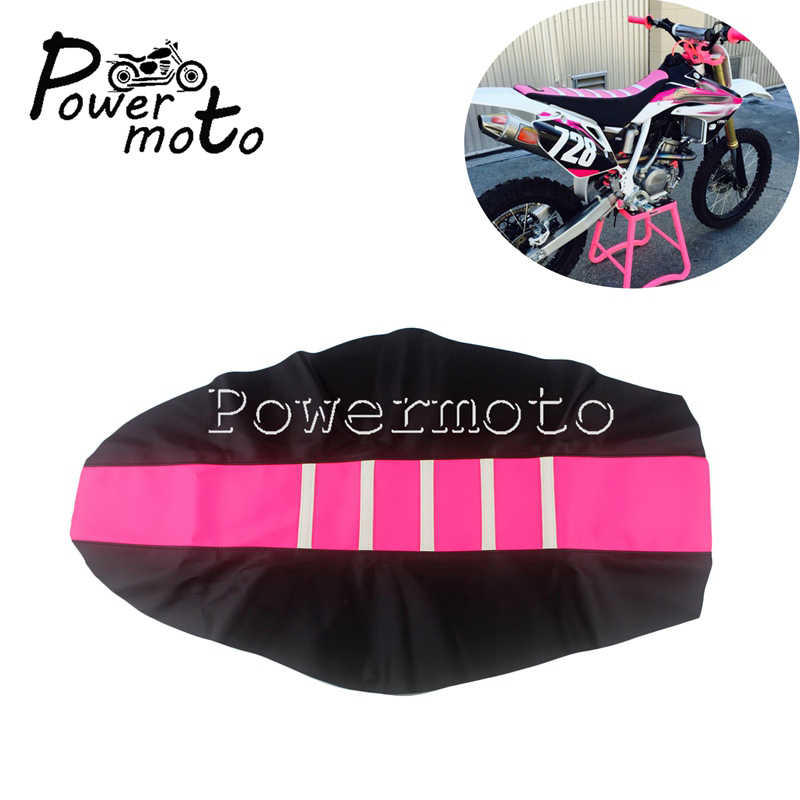 JFGRACING Blue//Black Gripper Soft Motorcycle Seat Cover For Yamaha WR250F 07-08 11-14 WR450F 07-08 2011