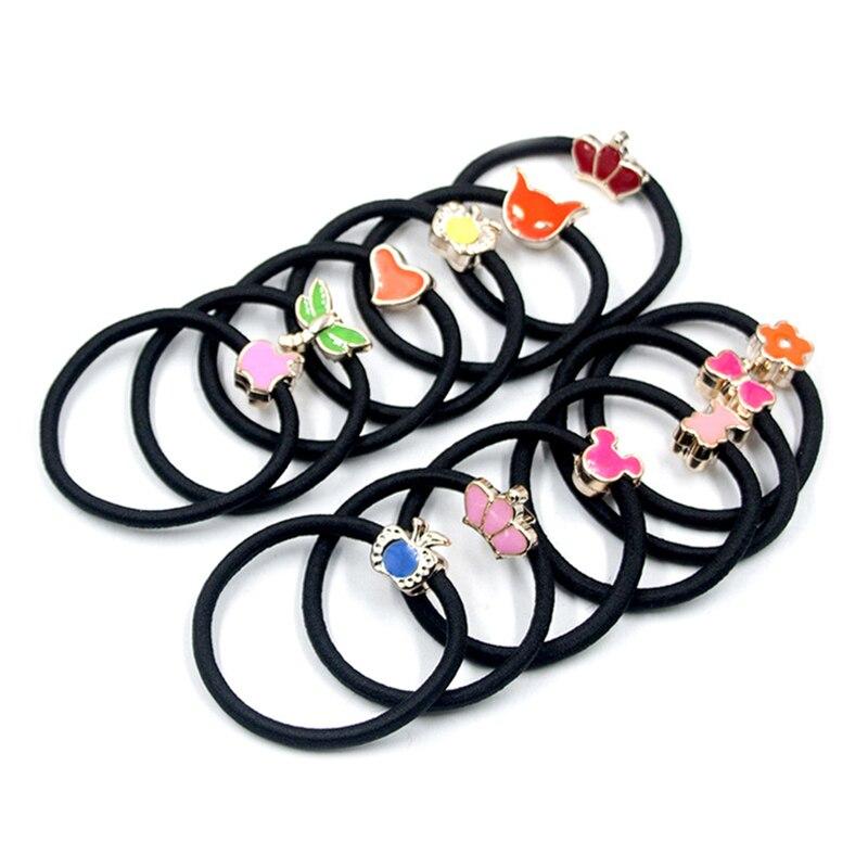 Aléatoire 10Pcs//Set Candy Color Kids Elastic Cheveux Corde Bande De Caoutchouc Filles Hair Ties