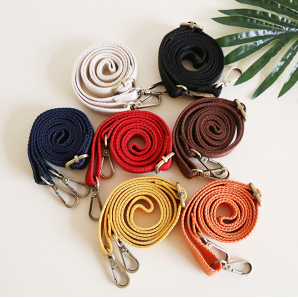 New 130cm Canvas Bag Strap Adjustable Shoulder Strap Fashion Bag Replacement Accessory 6 Colors Candy Color Hot Sale