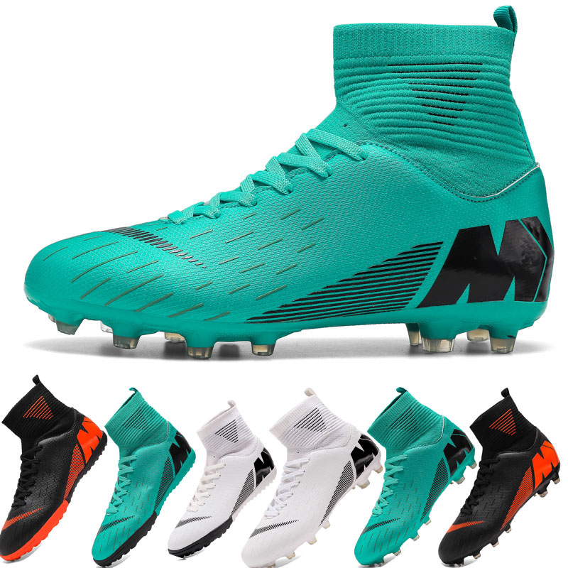 Outdoor Men Boys Soccer Shoes Football Boots High Ankle Kids Cleats Training Sport Sneakers Size 35 45 Dropshipping|Soccer Shoes|   - title=