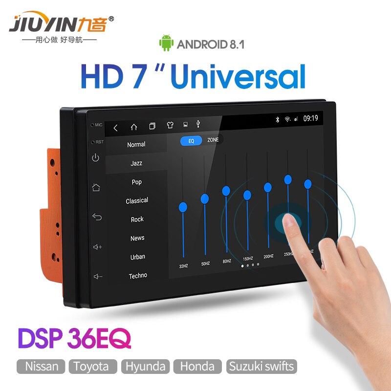 Jiuyin jogador multimídia do carro 7 polegada universal android8.1 estéreo do carro auto rádio para honda toyota corolla mazda ford gps de navegação