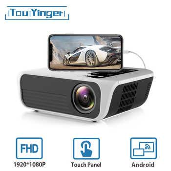 Touyinger L7 FÜHRTE Nativen 1080P Projektor full HD mini marken USB beamer 4500 Lumen Android 7,1 wifi Bluetooth Home kino HDMI