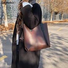 Cartelle donna PU Patchwork semplice grande Tote borse borsa a tracolla designer All-match donna Casual Chic quotidiano alla moda femminile