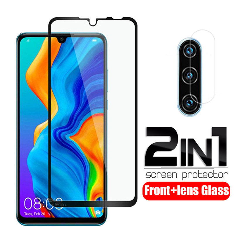 2-in-1 Camera Lens Protective Glass For Huawei P30 Lite 2020 6.15 Marie-L21BX P 30 Light 30lite P30lite Safety Armor Tremp Film