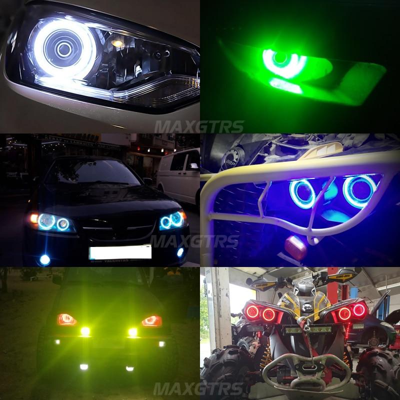 2x 60 70 80 85 90 95mm Angel Eye COB LED Chip Motorcykel Bil Ljus - Bilbelysning - Foto 6