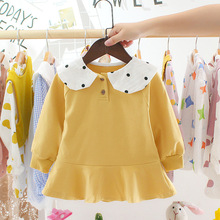 Baby Dress Girls 6M 12M Newborn Girl Clothes Turn-Down Collar Cute Infant Dresses 2 year birthday Babi