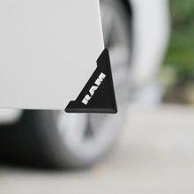 2 pçs silicone porta do carro canto capa pára-choques protetor anti-risco para dodge ram 1500 2500 3500 acessórios do carro estilo
