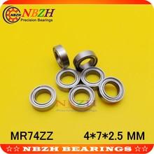 NBZH Прямая с фабрики SMR74 Z SMR74ZZ L-740ZZ 4*7*2,5 мм Миниатюрный подшипник из нержавеющей стали 440C материал 10 шт./лот