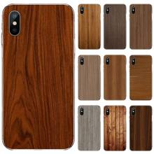 Wood Grain Black Soft Shell Phone Case Capa For iphone 4 4s 5 5s 5c se 6 6s 7 8 plus x xs xr 11 pro max nand pro box ip nand pro for iphone 4 4s 5 5c 5s 6 6p supported for ipad 2 3 4 5 6 supported