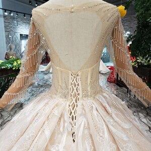 Image 4 - BGW HT566 lüks yeni moda düğün elbisesi ile kraliyet tren el yapımı yüksek kalite uzun tül püskül balo gelinlik 2020
